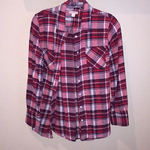 Merona flannel button down shirt
